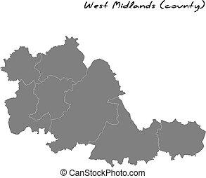 品質, 郡, 高く, 大都市である, イギリス\, 地図