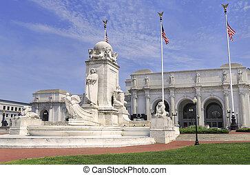 哥倫布, 聯合, 華盛頓特區, 車站, 泉水