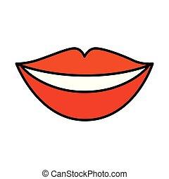 唇, 女, 官能性, アイコン