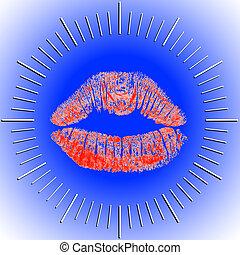 唇, 文字盤