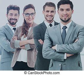 商业界人士的组, 在中, 一, 办公室