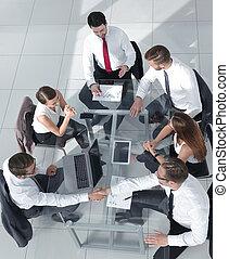 商业界人士的组, 在中, a, 会议