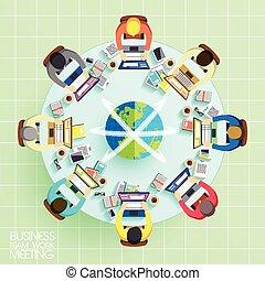商业组, 工作, 会议, 概念