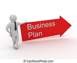 商业计划, 概念, 3d