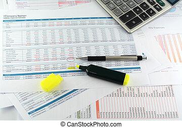 商业, 图表, 报告