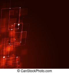 商业, 广场, 形状, 红的背景