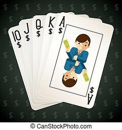 商业, 皇家的奔流, 纸牌