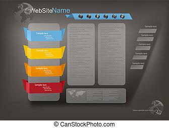 商业, 网站, 样板