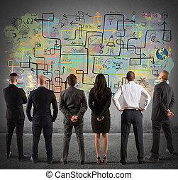 商业, 规划, 复杂, 队, 新, 图