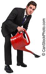 商人, 上水, 由于, 紅色, 罐頭
