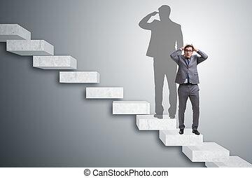 商人, 以及, 他的, 陰影, 在, 生意概念