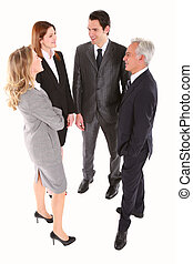 商人, 以及, 從事工商業的女性站, 聊天