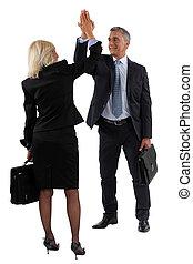 商人, 以及, 從事工商業的女性, 拍的 手