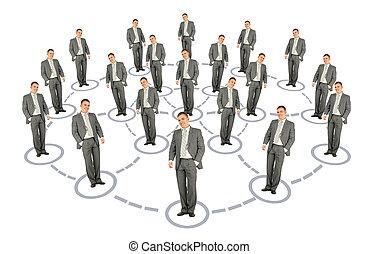商人, 合作, 系統, 方案, 拼貼藝術