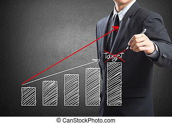 商人, 圖畫, a, 發展圖表