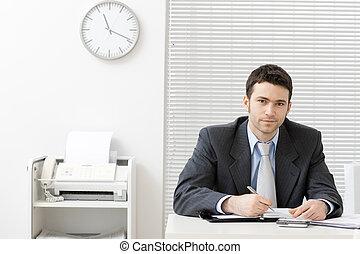 商人, 在書桌工作