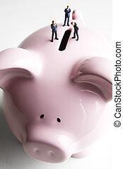 商人, 小雕像, 豬一般的銀行, &
