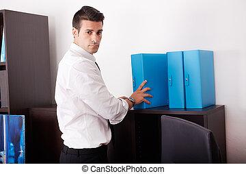 商人, 工作, 辦公室