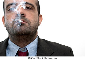 商人, 抽煙