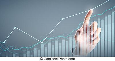 商人, 指示器, 圖表, 圖表, 成長, 計劃, 增加, 積極