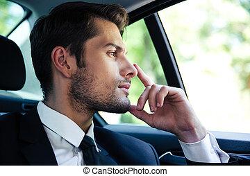 商人, 摆脱, 汽车