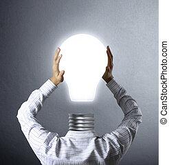 商人, 燈, 頭