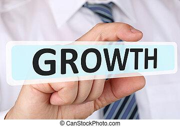 商人, 生意概念, 由于, 成長, 生長, 成功, 成功