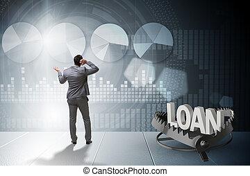 商人, 落下, 進, the, 俘獲, ......的, 貸款, 信用