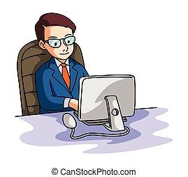 商人, 電腦, 使用