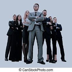 商务人士, -, 年轻, 有吸引力, 队, 精英