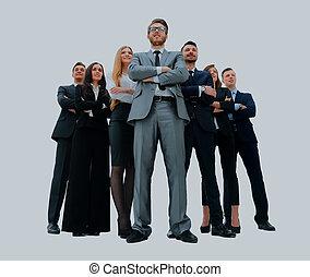商务人士, -, 年轻, team., 有吸引力, 精英