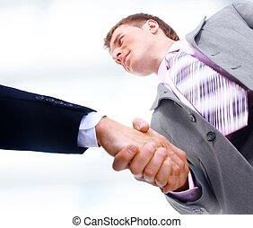 商务人士, 握手