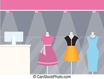 商店前面, 服裝店, 設計, 套間, 風格