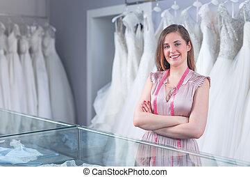 商店, 微笑, 賣主, 婚禮