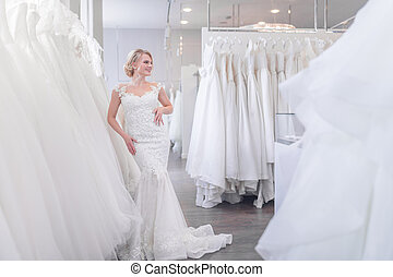 商店, 新娘, 有吸引力, 婚禮