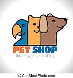 商店, 標識語, 寵物