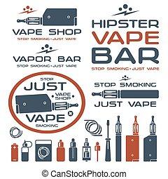 商店, 標識語, vape, 蒸氣, 酒吧