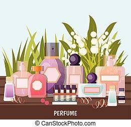 商店, 背景, 香水