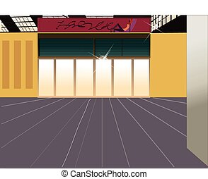 商店, 街道, 外部