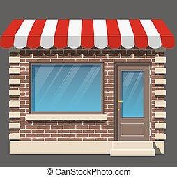商店, icon., 套間, design.