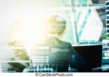 商業主管, 交付, a, 表達, 到, 他的, 同事, 在期間, 會議, 或者, in-house, 企業 訓練, 解釋, 事務, 計划, 到, 他的, 雇員, 由于, 技術, 背景。