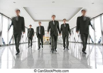 商業界人士, 在, 走廊, 2