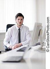 商業界人士, 組, 工作, 在, 顧客, 以及, helpdesk, 辦公室