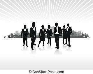 商業界人士, 黑色半面畫像