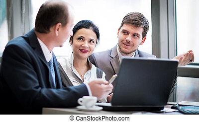 商業組, 一起工作, 到, 達到, 好, 結果, 在, 辦公室