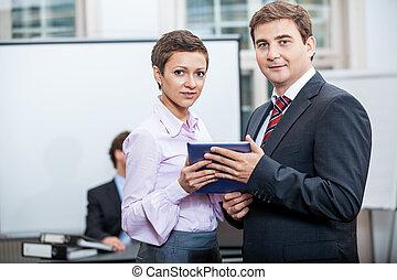 商業組, 在, 辦公室會議, 表達, 會議