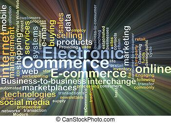 商業, 發光, 概念, 電子, 背景