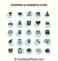 商業, &, 買い物, アイコン