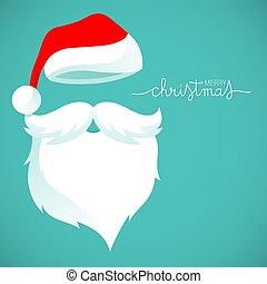 問候, 克勞斯, 聖誕老人, 卡片