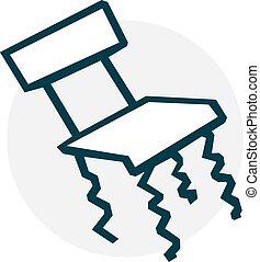 問題となる, 椅子, アイコン